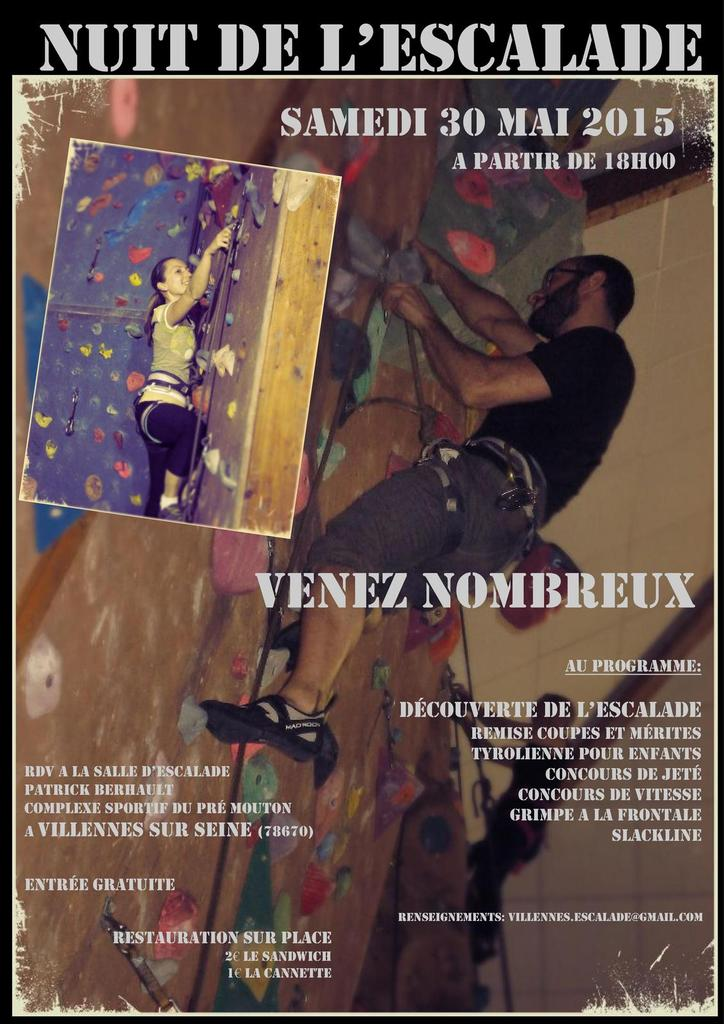 Evenement : Nuit de l'escalade (30 Mai)